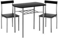 Space Saver Dining Table Set 2 Chairs Metal MDF Kitchen Dinner 3PCS Side Black http://www.ebay.co.uk/itm/Space-Saver-Dining-Table-Set-2-Chairs-Metal-MDF-Kitchen-Dinner-3PCS-Side-Black-/291846667836?hash=item43f36abe3c:g:O78AAOSwgZ1XsbTf  Get Now  this Wonderful Opportunity. Check Adikted Online and get this gift Now!