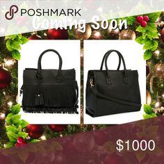 """🎄🎄 Pink Haley Millie Fringe Bag Just in time for the Holidays, beautiful faux leather layered fringe bag. Dual top handles, adjustable detachable shoulder strap, top zip closure, exterior features fringe, interior features zip pocket and 2 slip pockets. Approx 10"""" H x 13.5"""" W x 6"""" D. Approx 8"""" drop, 23"""" strap drop. PU exterior, fabric lining Pink Haley Bags Totes"""