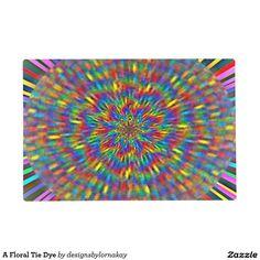 A Floral Tie Dye Placemat