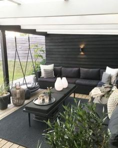 25 Exhilaratingly Beautiful Outdoor Living Room Ideas On a Budget - Patio - Ideas of Patio Furniture - I love this outdoor patio idea Budget Patio, Patio Garden Ideas On A Budget, Patio Diy, Outdoor Patio Designs, Outdoor Decor, Patio Ideas, Terrace Ideas, Outdoor Tables, Outdoor Lounge