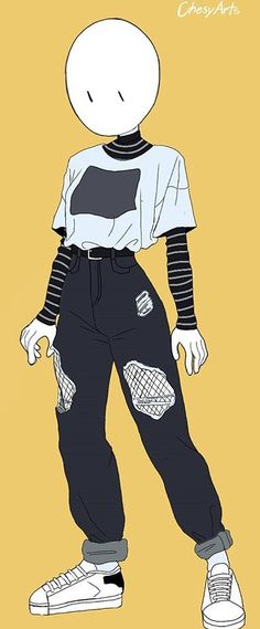 Cute Art Styles, Cartoon Art Styles, Drawing Reference Poses, Drawing Poses, Art Drawings Sketches Simple, Cool Drawings, Kleidung Design, Drawing Anime Clothes, Clothing Sketches