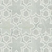 Reina stone waterjet and handcut mosaic in Ming Green and polished Thassos | Miraflores Collection by Paul Schatz | New Ravenna