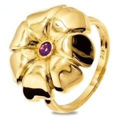 Purple amethyst gold pansy flower ring #flowers #jewelry #Pisces #February #birthstone | order at http://www.justjewellery.com.au/ViewProduct.aspx?ProductId=23638