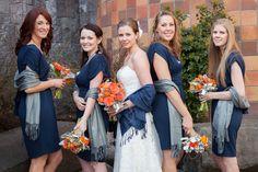 Blue And Orange Themed Wedding