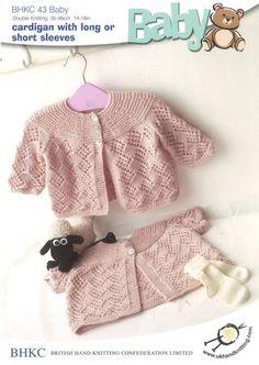 UKHKA Baby Cardigan Knitting Pattern No 43 - each