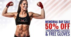 Happy Memorial Day!  Today we honor those who have made the ultimate sacrifice and their families.  This weekend only when you buy 3 Fitness Kickboxing Classes (at 50% off) Get a FREE pair of gloves For only $9.99! (Regular: $19.99)  Tone and lean every inch of your body in time for summer while supporting an amazing cause.  All the proceeds will be donated to the Memorial Day Foundation.  So use promo code SUMMER at checkout: http://ift.tt/1cexHSy  And SHARE this post in support for our…