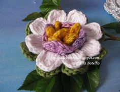 Magia do Crochet: Flores em crochet e flor maracujá