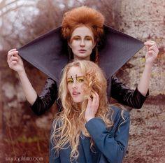 by Laura Norinkevičiūtė (www.laphotto.com)  #fashion #laphotto  #portrait #goodandbad #art #har #makeup #couple #two