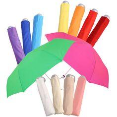 Mini Colours - Plain Coloured Folding Umbrella