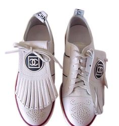 Chanel golf shoes