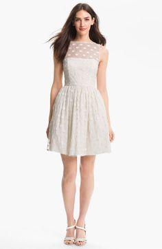 Darling dots on this Jill Stuart fit & flare dress