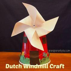 Dutch Windmill Craft - GrandparentsPlus.com