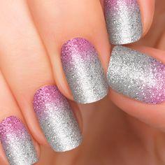purple nail designs with glitter or ice | Purple Ombre Nails | Glitter Nail Designs | 1 Step Nail Art by Incoco ...