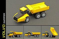 LEGO Microscale — Volvo Dumper (by Robiwan_Kenobi)