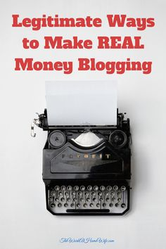 Blogging is hard work and very few make it to a full-time income. But, it isn't a matter of hitting the blog lotto. There are legitimate ways to make real money blogging.