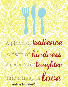 Kitchen Wall Art Inspirational Quote 8x10 Art Print by Freshline