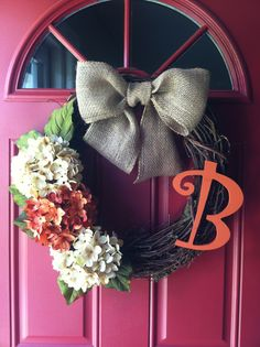 Fall wreath for the front door