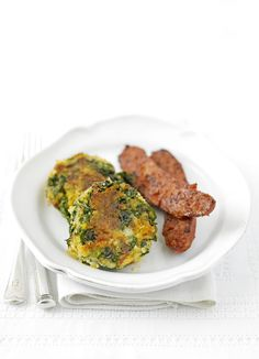 Kale bubble and squeak cakes with chorizo - add a poached egg if you ...