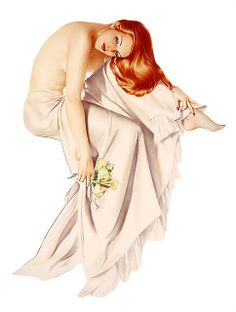Alberto Vargas Vintage Pin Up Girl Illustration | Pin-Up Girls | Sugary.Sweet | #PinUp #Art #Vintage #Illustration