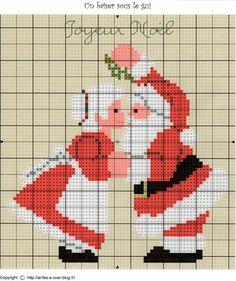 Santa and Mrs Claus - Christmas perler bead pattern