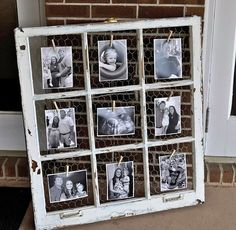 Old Window Chalkboard Calendar - love this idea! Perfect way to recycle old windows! ------------- #windows #frames #ideas  #tips #diy #home #decor #framing #custom