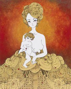 "Artist David Foote's ""Madonna and Child"" series - mother & child fine art illustration"