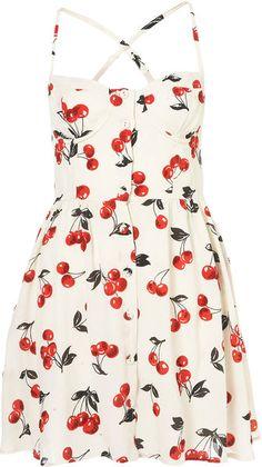 Cherry Glitter Sun Dress