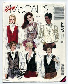 McCalls 4407 Misses' Vests 1989