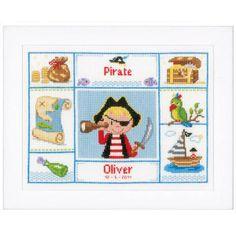 Kit Pirate cache-oeil tableau de naissance Vervaco PN-0148606 chez Univers Broderie