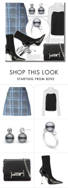 """""""Holidays with PEARL PARADISE"""" by fattie-zara ❤ liked on Polyvore featuring Versace, TIBI, Tod's, Bobbi Brown Cosmetics and pearlparadise"""