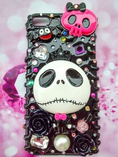 Nightmare Before Christmas iPhone 5 Case. Nightmare Before Christmas iPhone 5 SE Case. Nightmare Before Christmas iPhone Case. Nightmare Before Christmas iPhone 6 Case. Nightmare Before Christmas iPhone Case. Kawaii Phone Case, Decoden Phone Case, Diy Phone Case, Cute Phone Cases, Cellphone Case, Iphone 8 Plus, Iphone 7, Iphone Cases, Samsung Cases