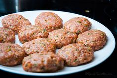 Rissoles ready to fry