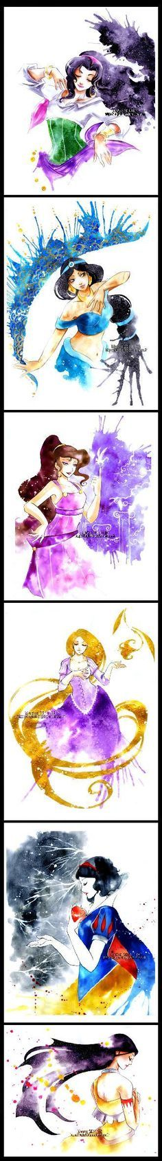 More Disney princesses from DeviantArt. Beautiful illustrations