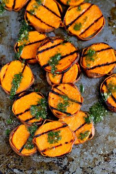 Grilled Sweet Potatoes with Cilantro Vinaigrette by cookincanuckL 117 calories and 3 Weight Watchers #Sweet_Potatoes #Cilantr