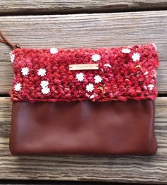 Harvest Moon Leather & Wool Clutch