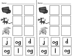 Apple-themed Word Family Activities -og, -op, and -ot
