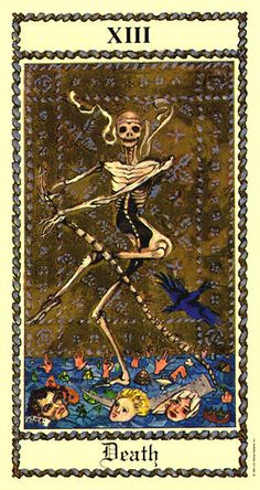 From my own deck of Tarot cards, that my mum bought me on my birthday, who also reads the tarot. This is the death card from the Scapini tarot deck. Don't Fear The Reaper, Grim Reaper, Tarot Death, Medieval, Dark And Twisted, Major Arcana, Oracle Cards, Memento Mori, Pretty Art