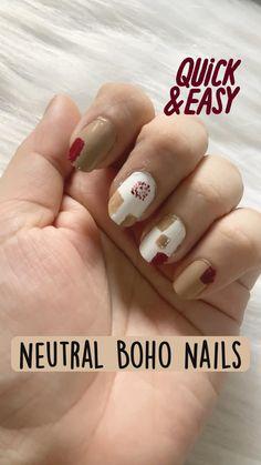 Mehndi Art Designs, Nail Art Designs, Nude Nails, White Nails, Sitting Girl, Neutral Makeup, Flat Brush, Maroon Color, Simple Nails
