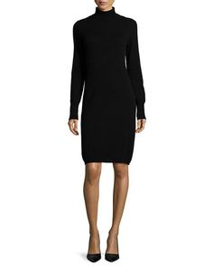 TADVB Neiman Marcus Cashmere Collection Cashmere Long-Sleeve Turtleneck Dress, Women's