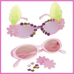 Decorate Diva Sunglasses. So much fun at a Birthday party or sleepover! Makes 8 pairs - Sunglasses also included.