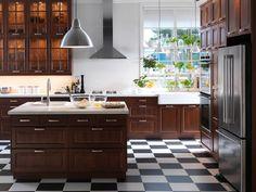 pepita (fekete-fehér) kövek konyhába