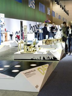 https://flic.kr/p/9gz8QA | X-Board Paper Composite Display Plinths | Design for Sustainability Hall Melbourne Convention Centre Australia  Custom inkjet printable with your design or pattern. 100% repulpable post-exhibition  www.xanita.com.au