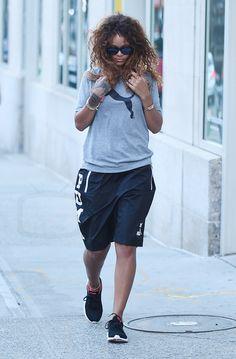 Rihanna Heading to the gym wearing Puma