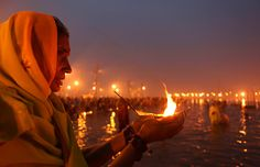 According to Hindus, the river Ganges is sacred and a feminine river that is personified as a Devi goddess, who holds a significant place in Hinduism. Hindu faith holds that bathing in the river, espically on certain occasion causes the forgiveness of sins and helps to attain salvation.