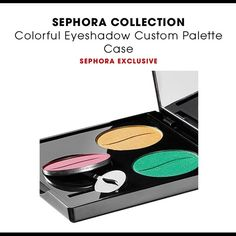 NEW Sephora eyeshadow case New, still with plastic wrapping on. Empty eyeshadow palette case for 3 Sephora shadows. Eyeshadows NOT included. Sephora Makeup Eyeshadow