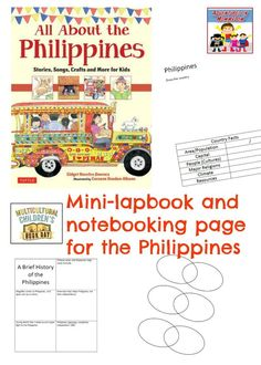 Try this easy Philippines country study, you only need the one book to complete it, and one (maybe two) days to complete the notebooking pages. Philippines Geography, Geography For Kids, World Geography, World History Lessons, Teaching History, Teaching Kids, Philippines Country, Filipino Culture, Classroom Design