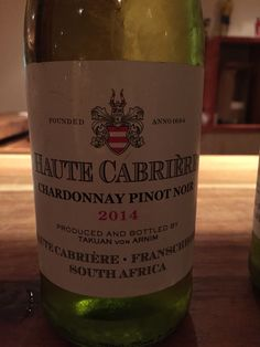 Funky white wine, this one. Haute Cabrière blend of chardonnay and pinot noir. Perfect match with Mossel Bay wild oysters. At Senza, Knysna.