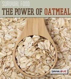 Survival Food - The Power of Oatmeal | Survival Prepping Ideas, Survival Gear, Skills & Emergency Preparedness Tips - Survival Life Blog: survivallife.com #survivallife #survival #prepping