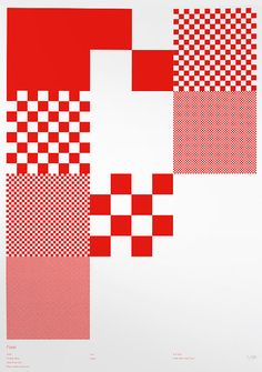 #Red squares on a #white background