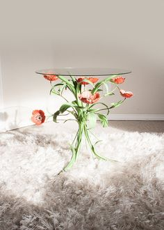 Vintage tole flower table by SadRosetta on Etsy, $142.00 Such a unique little table, I can't stop looking at it!